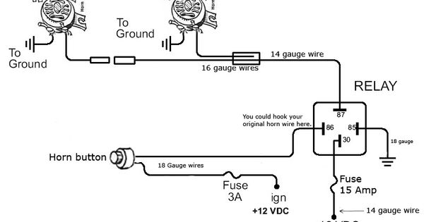 horn wiring diagram - http://www.automanualparts/horn-wiring,