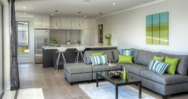 Open Plan Family Area With Quickstep Timber Flooring In Largo White Vintage Oak Living Room Modern White Living Room Set Living Room Sets