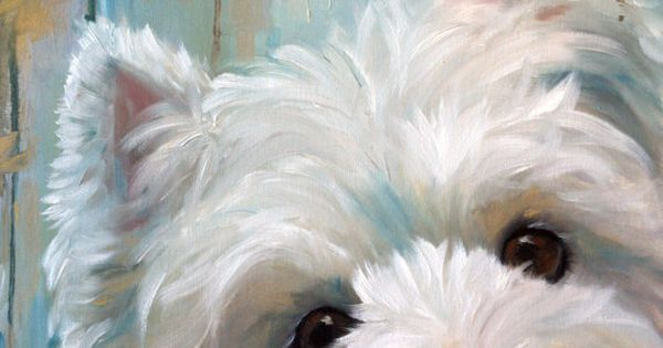 Signed PRINT Westie West Highland Terrier Dog Art by Mary Sparrow Custom