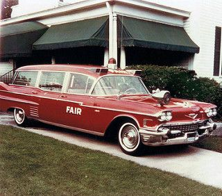 1958 Pontiac Criterion Ambulance by Superior Ad Old Print