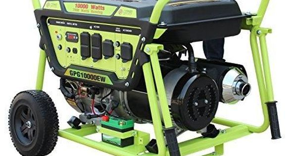 Green Power America Gpg10000ew 10000w Pro Series Recoil Electric Start Generator With Images Green Power Best Solar Panels Electric Start Generator