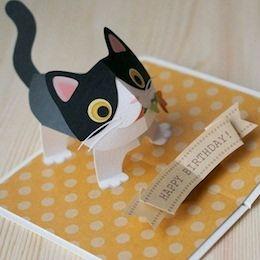 Pop Up Kitten Kagisippo Pop Up Cards 2 Tarjetas De Gato