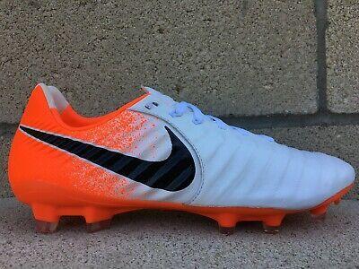 Advertisement Ebay New Nike Tiempo Legend 7 Pro Fg Mens Size 10 Orange White Leather Ah7241 118 White Leather