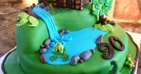 Log Cabin Cake Birthday Cakes Cakes Pinterest Cake