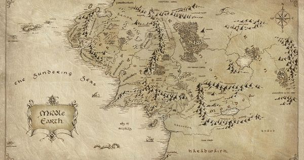 Download wallpaper map Middle earth paper Lord of