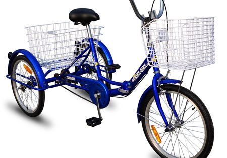 Trike Steel Wire Folding Bicycle Basket 4 Hollow hub Trikes Bike Bicycle Cruiser