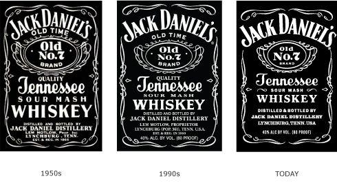 Evolution Of The Front Label For Jack Daniel S Jack Daniels Drinks Jack Daniels Jack Daniels Birthday