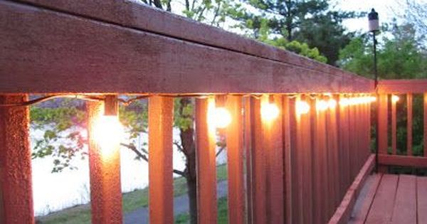 DIY home improvement project for this summer: Lighting the deck using cafe