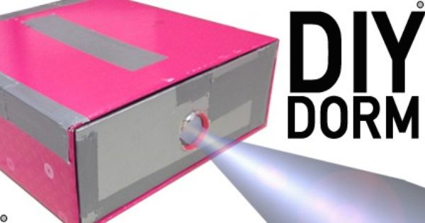Make Your Own Projector Using A Shoe Box Duct Tape Magnifying Glass And Your Smart Phone That S Crazy Click Image To Find More Di Dorm Diy Diy Shoe Box