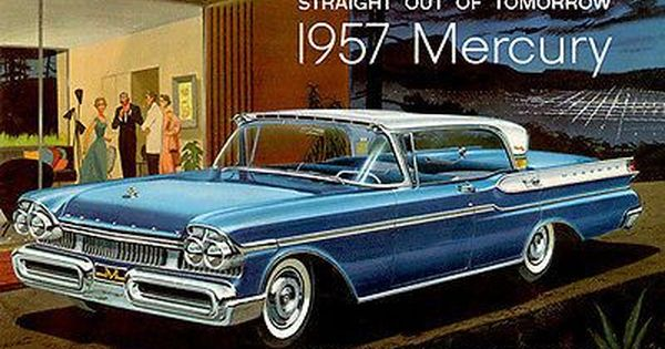 1957 Mercury Straight Out of Tomorrow Promotional Advertising Poster