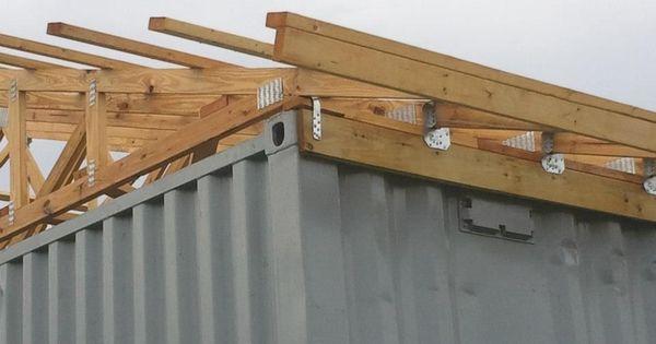 satteldach auf container bauen dach containerhaus. Black Bedroom Furniture Sets. Home Design Ideas