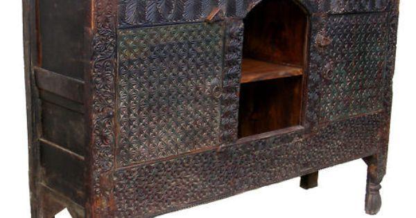 antik orientalische schrank chest truhe nuristan swat pakistan afghanistan l furniture pinterest. Black Bedroom Furniture Sets. Home Design Ideas