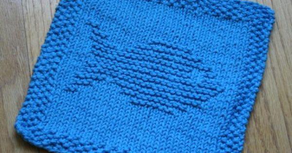 Fish Knit Dishcloth Pattern Tejer / Knit & Crochet ...