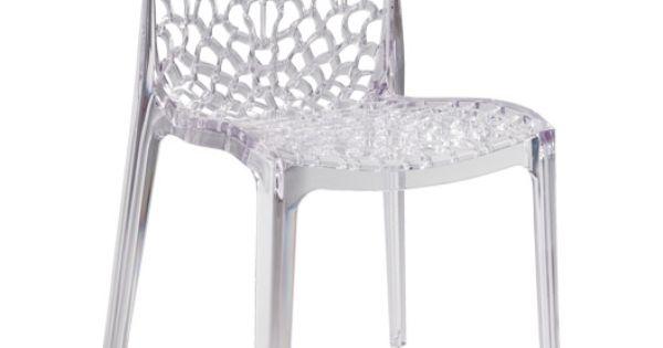 Chaise de jardin en r sine grafic lux couleur transparent chaise pinterest ps - Stoel tuin leroy merlin ...
