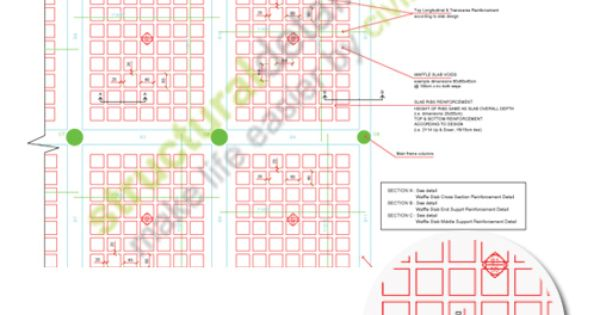Waffle Slab Plan View Reinforcement Detail Detail Is A
