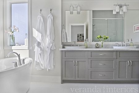 28++ Gray and white bathroom cabinets best