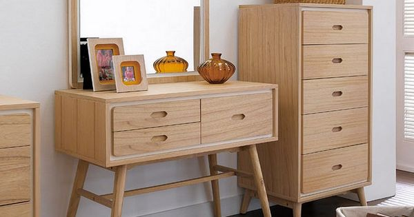 Scandinavian Vanity Table  Mid-Century Modern  Pinterest  화장대, 서랍장 및 ...