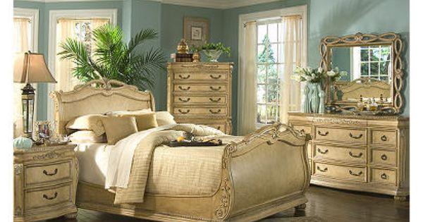 Cindy Crawford Home Villa D Este Light 7 Pc Queen Bedroom Home