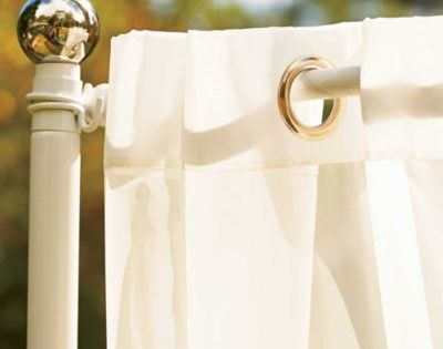 Our Freestanding Outdoor Curtain Rod With Posts Set Allows You To Easily Add Privacy To Any Outdoor S Outdoor Curtain Rods Outdoor Patio Decor Outdoor Curtains