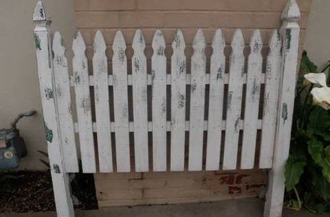 Fence Headboards Queen Picket Headboard For
