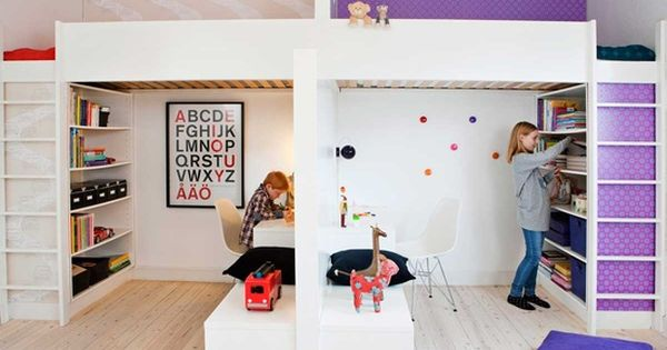 mommo design loft / bunk beds what a great way to split