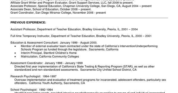 resume sample for psychology graduate