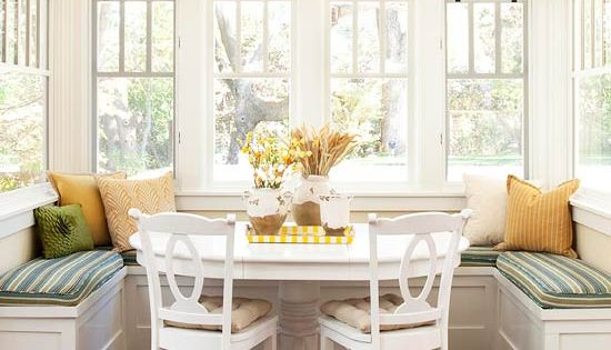 If you are fortunate enough to have a small breakfast nook or