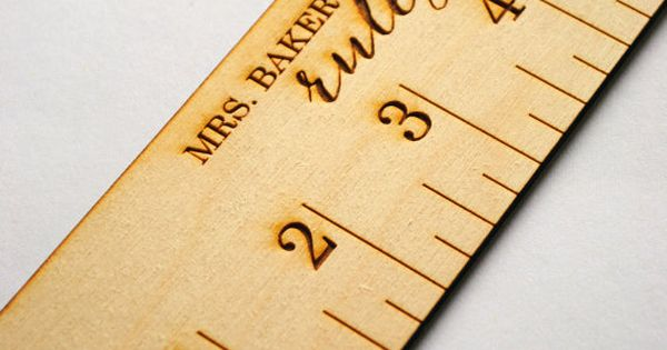 Personalized 6 Wood Ruler By Interprintations On Etsy