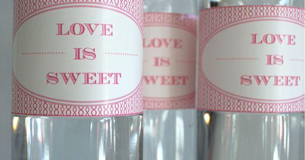 Water bottle labels for bridal shower.