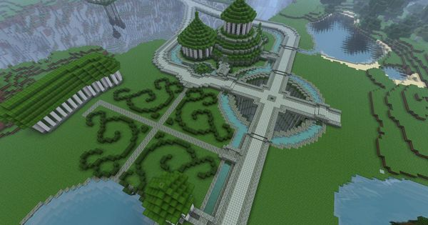 Minecraft garden ideas and palaces on pinterest - Minecraft garden designs ...
