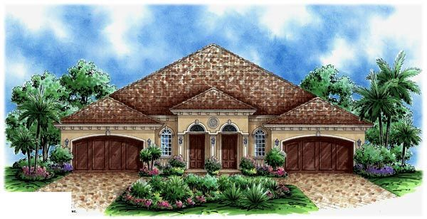 Florida Style Multi Family Plan 60704 With 6 Bed 4 Bath 4 Car Garage Florida House Plans Duplex House Plans Tuscan House Plans