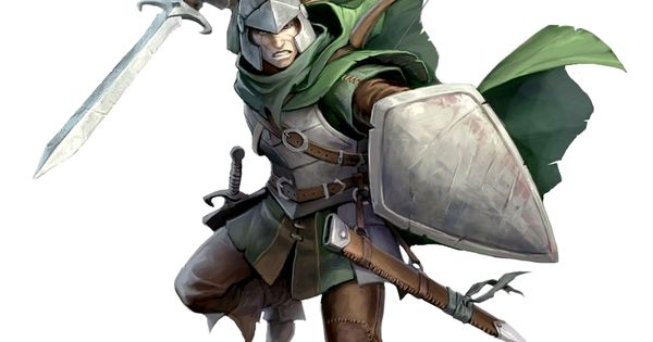Male Human Shield and Sword Fighter - Pathfinder PFRPG DND ...