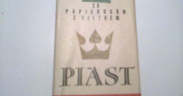 Papierosy Kolekcjonerskie Piast Z Filtrem 6084375865 Oficjalne Archiwum Allegro Cigarettes Poland Country Poland