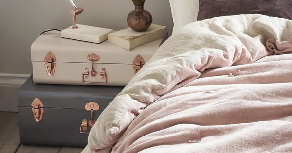 Velvet Linen Quilt Blush By Cox Cox Perfect For