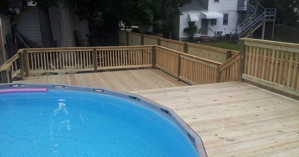 Bi Level Pool Deck Pool And Decks Pinterest Decking