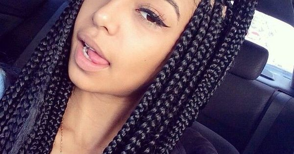 65 Box Braids Hairstyles For Black Women Found On Polyvore Haironfleek Pinterest Box