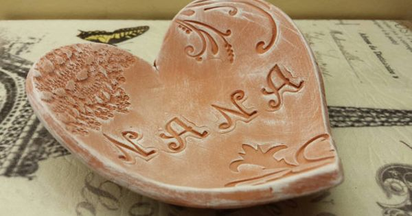 Handmade Pottery Mother S Day Rustic Heart Dish For Nana Handmade Pottery Nana Gifts Handmade