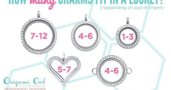 How Many Charms Fit Into Each Origami Owl Locket Https Tinabrown Origamiowl Com Origami Owl Designer Origami Owl Jewelry Origami Owl Lockets