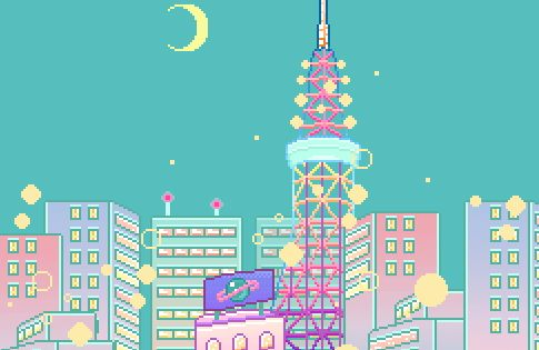how to make beautiful pixel art landscapes