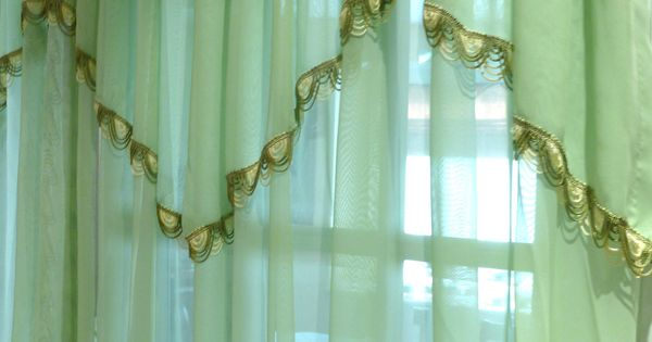 Mint Green Drape Pinch Pleated Sheer Bedroom Drapes Boudoir Curtain Via Etsy Top