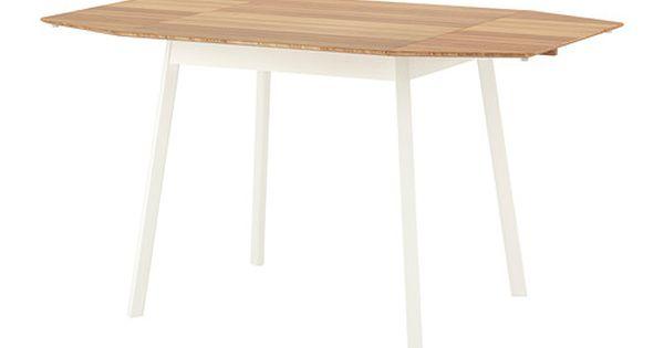 Ikea ps 2012 drop leaf table bamboo white ikea ps drop leaf table and leaf table - Round drop leaf table ikea ...