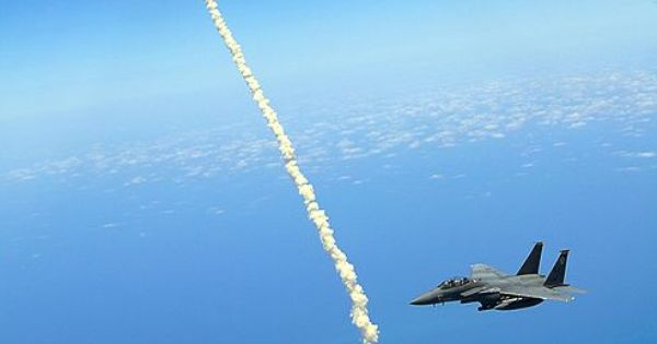 "Birds Eye View of Shuttle Launch ""Lt. Col. Gabriel Green and Capt."