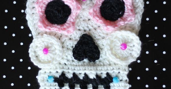 Crochet Sugar Skull - Free Pattern | Sugar skulls and Free ...
