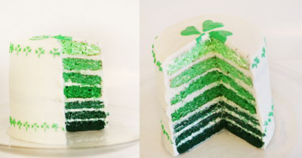 St Patrick's Day ombre cake!