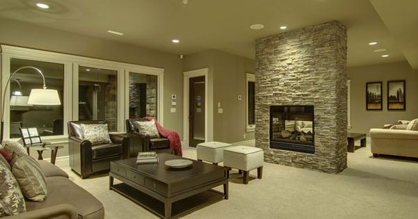 Free standing fireplace by knocking out part of wall - Living room dining room with fireplace ...