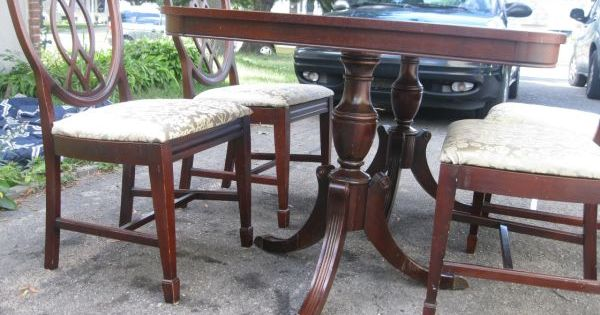 Vintage mahogany double pedestal dining table plus four  : 46338a0dae8542e6746d1d72c002cb5f from www.pinterest.com size 600 x 315 jpeg 43kB