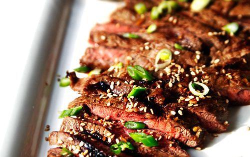 Asian style flat Iron steak recipe
