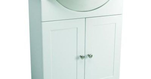 Design House 31 In Euro Style Vanity In White With Cultured Marble Belly Bowl Vanity Top In