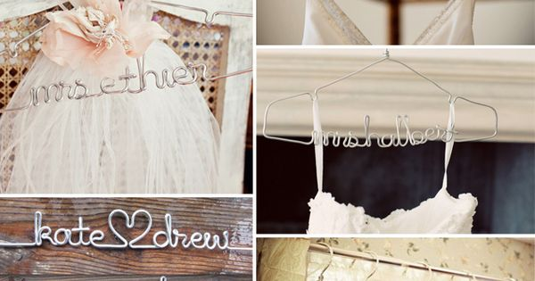 DIY Wedding Hangers, Photo courtesy of Anna Sawin diyweddings weddingideas