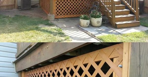 Under Deck Lattice With A Removable Panel And Locks Hides